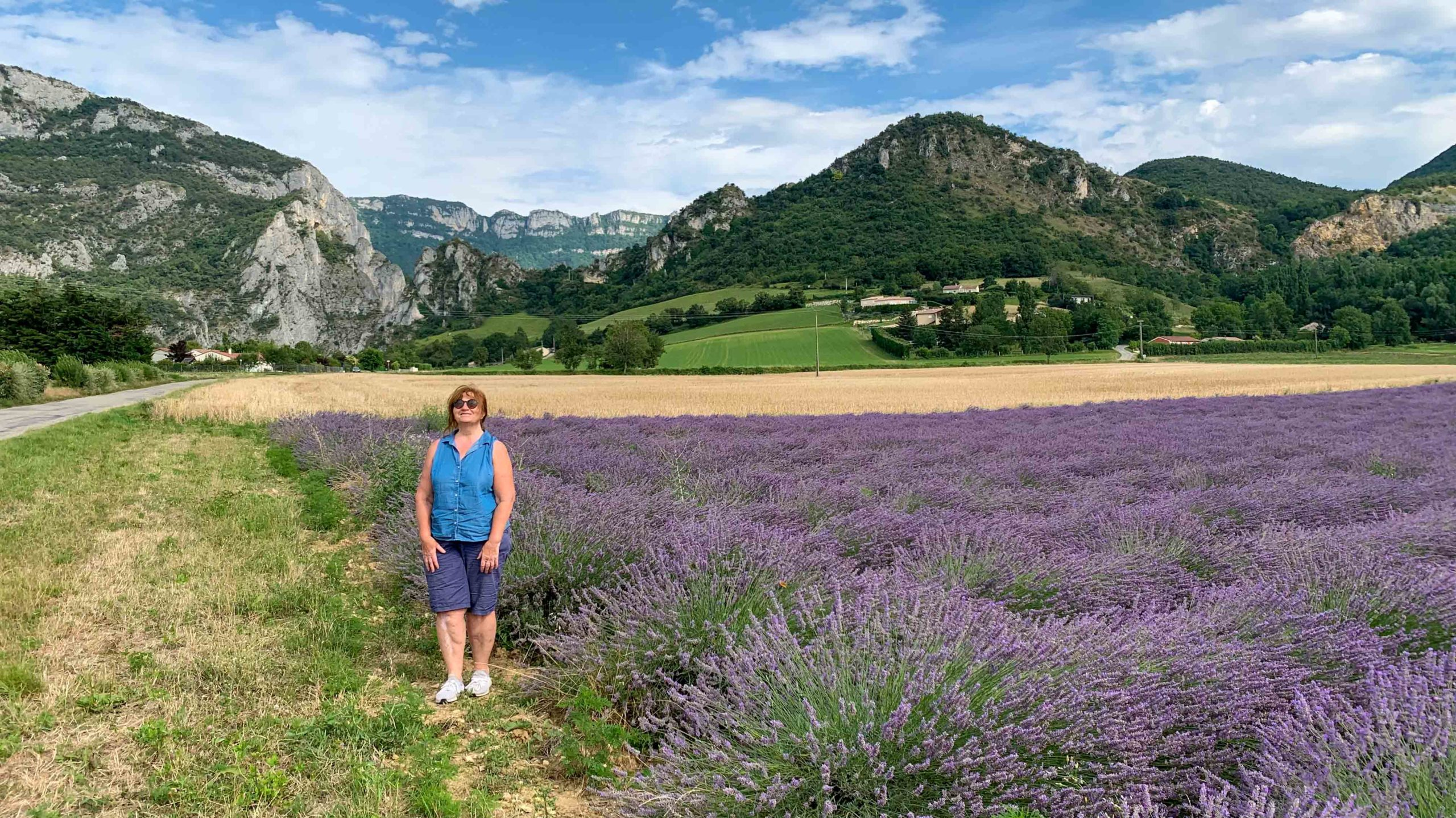 Walk in nature. Rochefort-Samson in France.